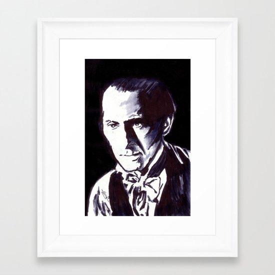 The Gentle Man of Horror Framed Art Print