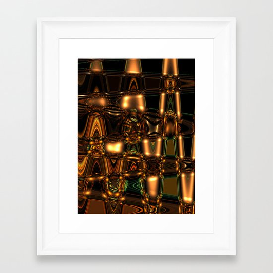 Abstract Series - Gleaming pattern Framed Art Print