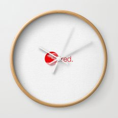 red. Wall Clock