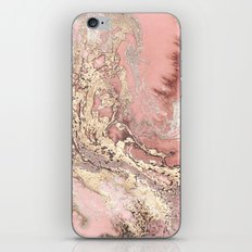 Rosegold marble iPhone & iPod Skin