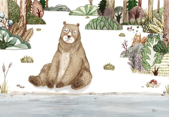 Mr.Brown is chilling by the river. Art Print