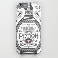 Legend of Zelda Red Potion Vintage Hyrule Line Work Letterpress iPhone 6 Slim Case