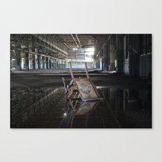 Flipped Chair Canvas Print