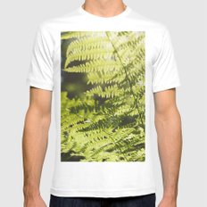 Sun leaf Mens Fitted Tee White SMALL
