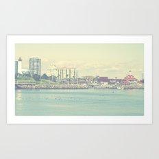 Seaside ~ Long Beach ~ California Art Print