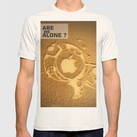 Are we alone ? Mens Fitted Tee Natural SMALL