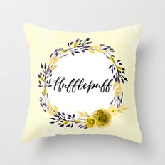 HP Hufflepuff in Watercolor Throw Pillow