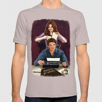 Murder, He Wrote Mens Fitted Tee Cinder SMALL