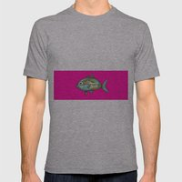 Pescefonico Mens Fitted Tee Athletic Grey SMALL