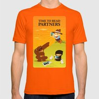 Time to read partners Mens Fitted Tee Orange SMALL