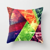 Through colour Throw Pillow