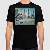 Surf City L.A. Mens Fitted Tee Black SMALL