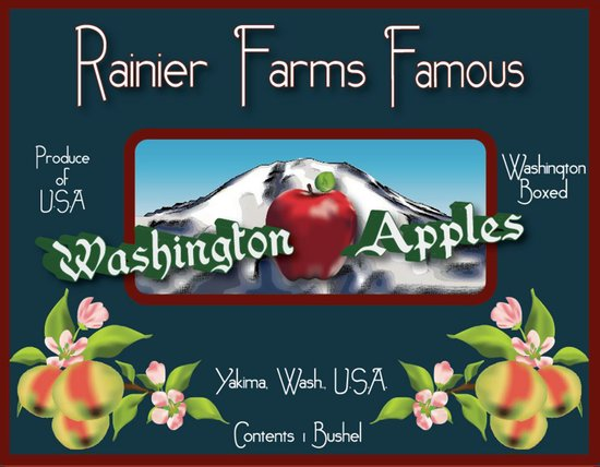 Washington Apples Art Print