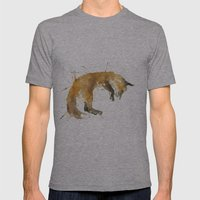 Sleepy Fox Mens Fitted Tee Athletic Grey SMALL