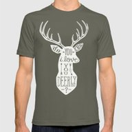 I LOVE YOU DEER - PINK Mens Fitted Tee Lieutenant SMALL
