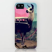iPhone Cases featuring Llama by Ali GULEC