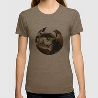 3:58 PM Womens Fitted Tee Tri-Coffee SMALL