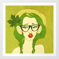 selfie girl_7 Art Print