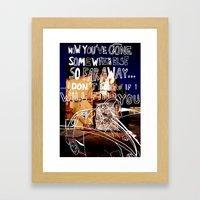 Forever Alone Framed Art Print
