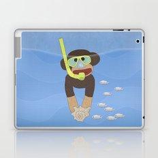 Sock Monkey Snorkeling Laptop & iPad Skin