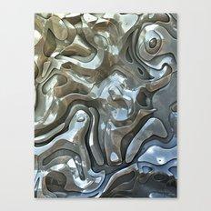 Abstract Metallic Layers  Canvas Print