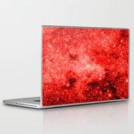 Red Galaxy Laptop & iPad Skin