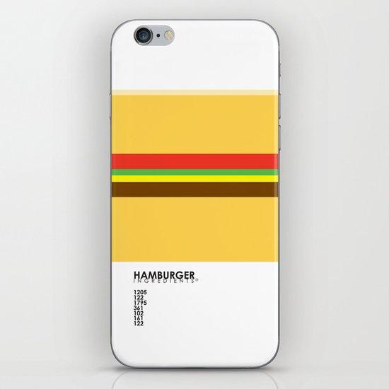 Pantone Food - Hamburger iPhone & iPod Skin