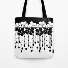 Hibiscus Bead Curtain: Positive Negative Tote Bag