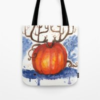 Deer Pumpkin Tote Bag
