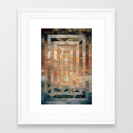 Cave abstraction Framed Art Print
