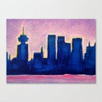 Sundown Vancouver Canvas Print