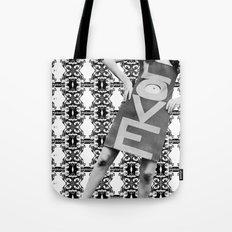 LOVE implosion #9 [invert]  Tote Bag