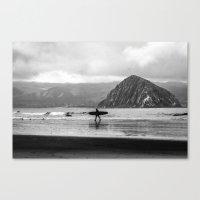 Morro Surfer Canvas Print