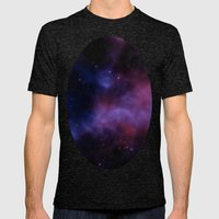 Nebula Blue Violet Mens Fitted Tee Tri-Black SMALL