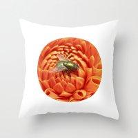 Little Fly Macro XIV Throw Pillow
