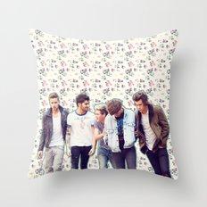 Floral 1D Throw Pillow