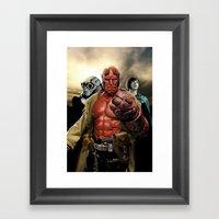 Power In Three Framed Art Print