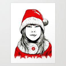 Snow-maiden Art Print