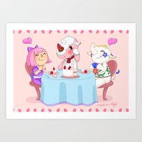 Animal Crossing :: Cake … Art Print