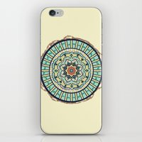 Ribbon Lotus Mandala in Terra and Turquoise iPhone & iPod Skin