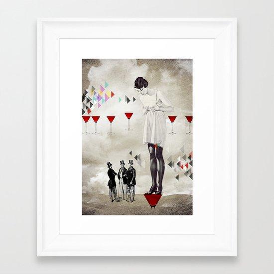 Women thoughts Framed Art Print