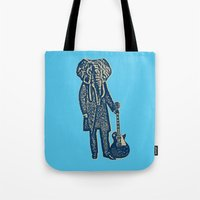 Elephant Guitar Player Tote Bag