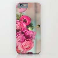 iPhone & iPod Case featuring Pink Ranunculus  by Debbie Wibowo