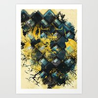 Abstract Thinking Remix Art Print