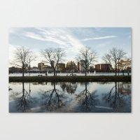 Esplanade Reflection Canvas Print
