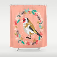 European Goldfinch By An… Shower Curtain