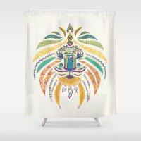Whimsical Tribal Lion Shower Curtain
