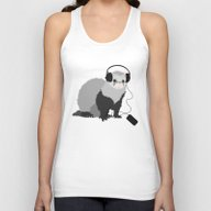 Music Loving Ferret Unisex Tank Top