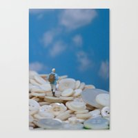 The Great Button Hike Canvas Print