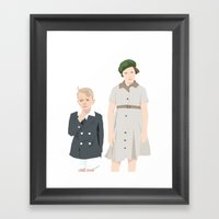 Ginny And Charles On The… Framed Art Print